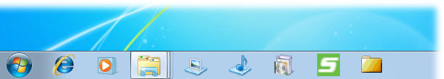 screenshot of Windows 7 Taskbar Items Pinner