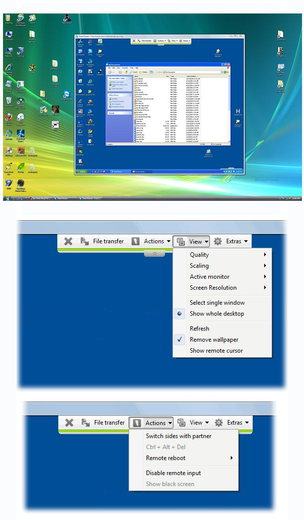 screenshot of TeamViewer