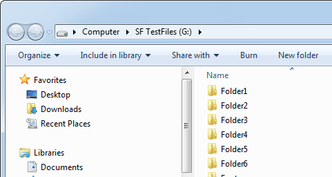 screenshot of Text 2 Folders