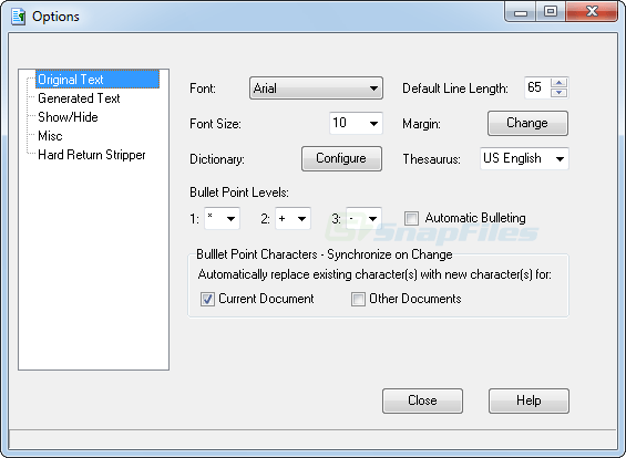 screenshot of Text Formatter Plus