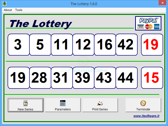 screen capture of The Lottery