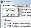 AVIcodec screenshot