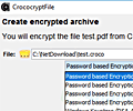 CrococryptFile screenshot