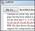DiffPDF screenshot