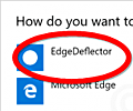 EdgeDeflector screenshot