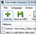 Kastor Free Audio Extractor screenshot