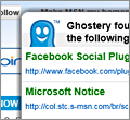 Ghostery for IE screenshot
