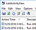 LastActivityView screenshot