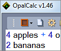 OpalCalc screenshot