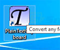 Plain Text Clipboard screenshot
