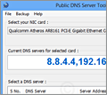 Public DNS Server Tool screenshot