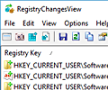 RegistryChangesView screenshot