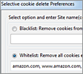 Selective Cookie Delete screenshot
