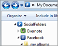 SocialFolders screenshot