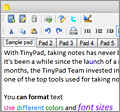TinyPad screenshot
