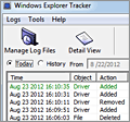 Windows Explorer Tracker screenshot