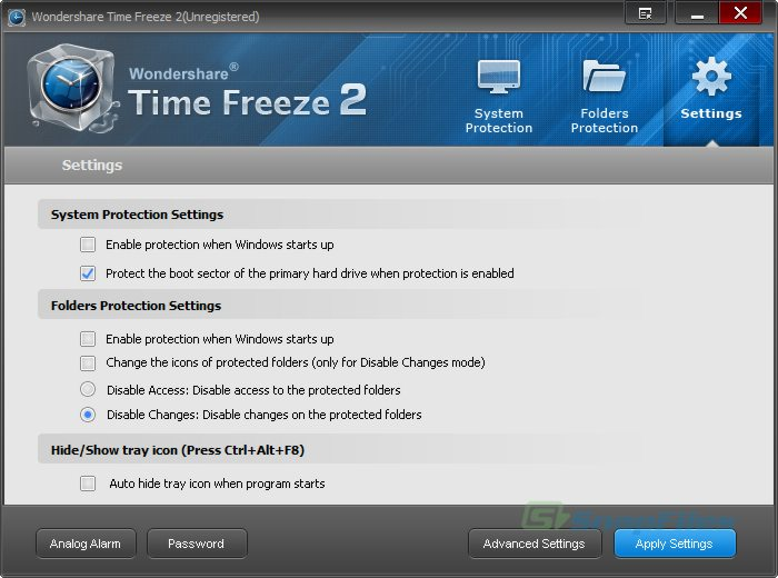 screenshot of Wondershare Time Freeze