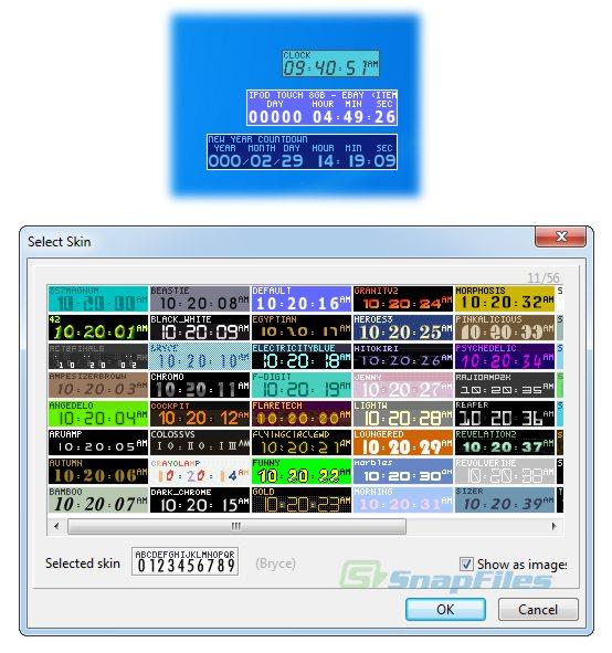 screenshot of TimeLeft