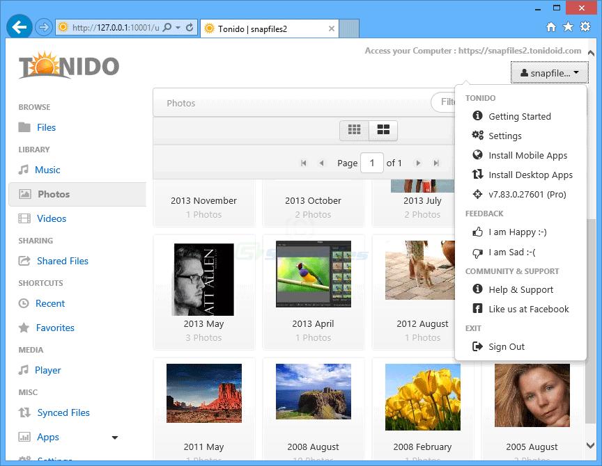 Www.tonido.com