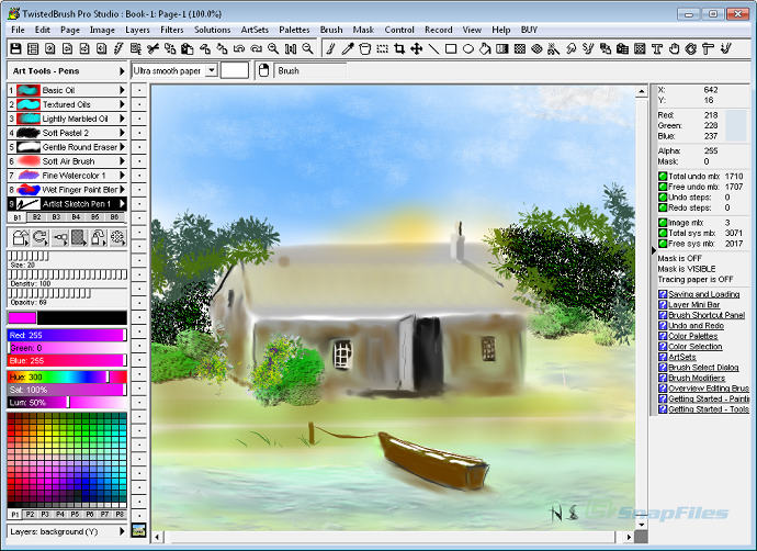 screen capture of TwistedBrush Pro Studio