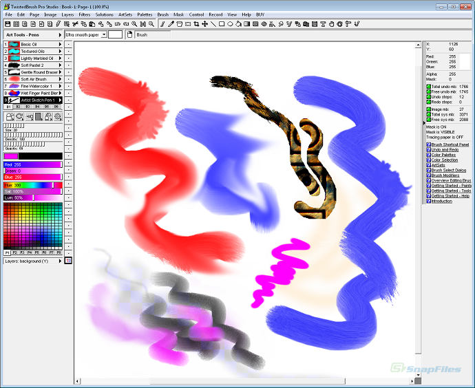 screenshot of TwistedBrush Pro Studio