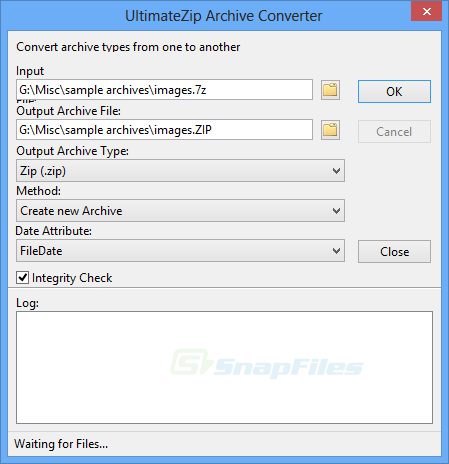 screenshot of UltimateZip