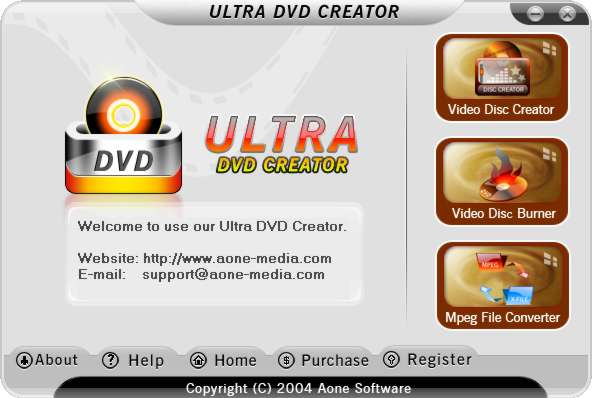 screen capture of Ultra DVD Creator