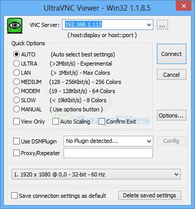 screenshot of UltraVNC