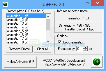 screen capture of UnFREEz