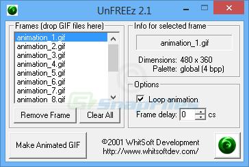 screen capture of UnFREEz