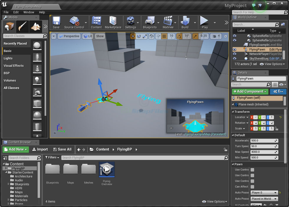 screen capture of Unreal Engine 4