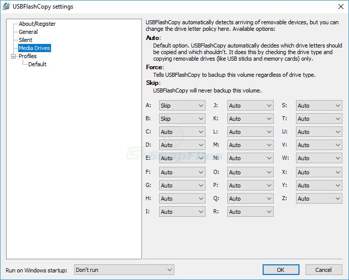 screenshot of USBFlashCopy