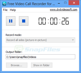 screenshot of Free Video Call Recorder for Skype