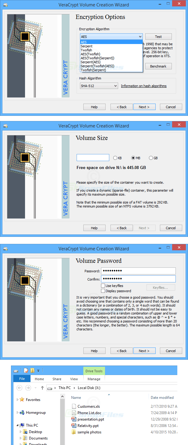 screenshot of VeraCrypt