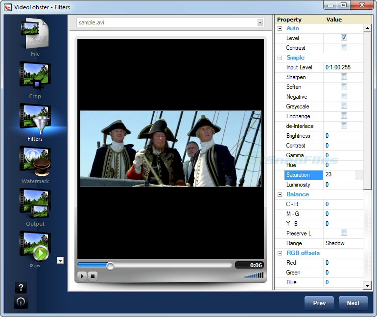 screenshot of VideoLobster (Free Version)