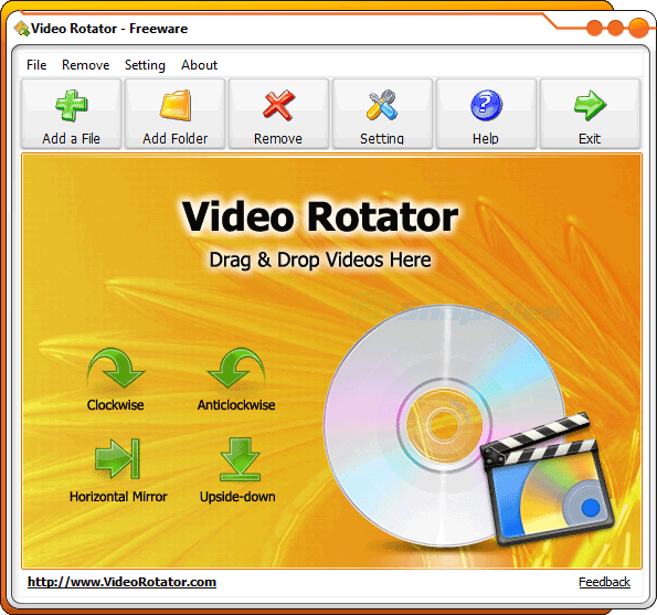 screen capture of Video Rotator