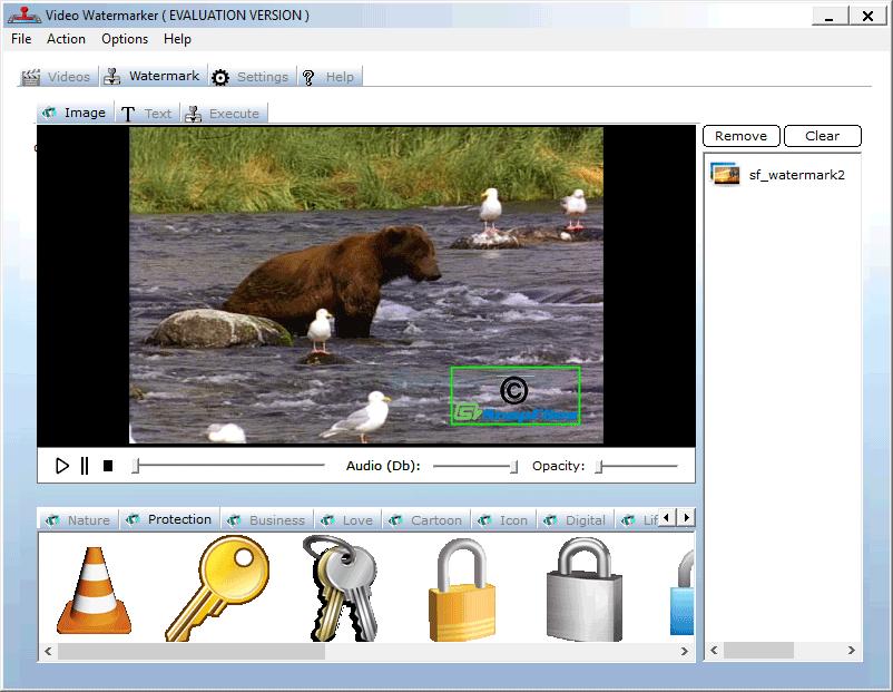 screenshot of Video Watermarker