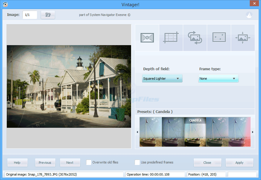 screen capture of Vintager