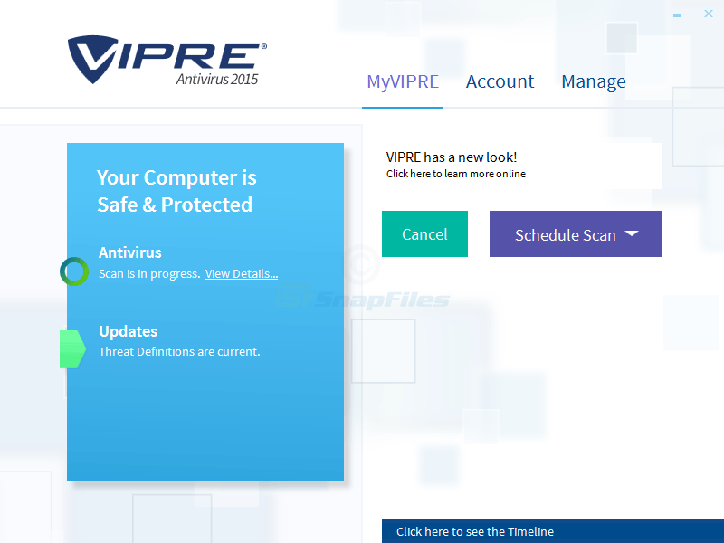 screen capture of VIPRE Antivirus