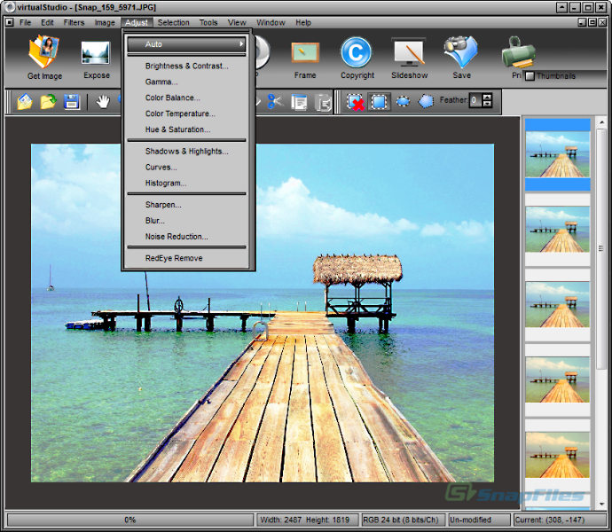 screen capture of virtualStudio