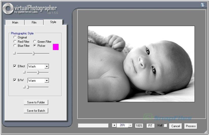 screenshot of virtualPhotographer