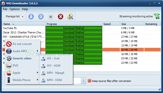 screenshot of VSO Downloader