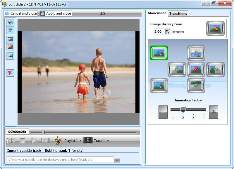 screenshot of VSO PhotoDVD
