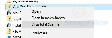 screenshot of VirusTotal Scanner