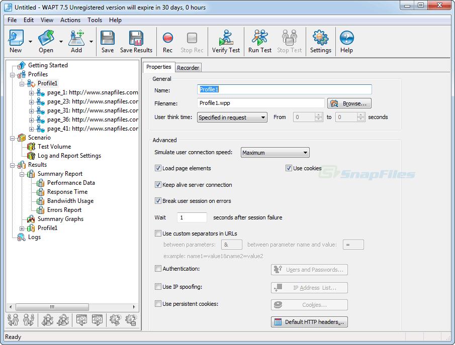 screenshot of WAPT