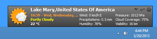 screenshot of MiTeC Weather Agent