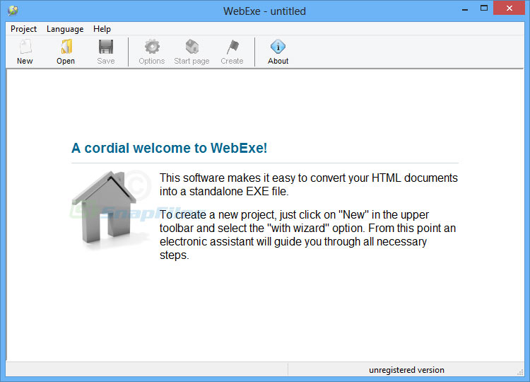 screen capture of WebExe