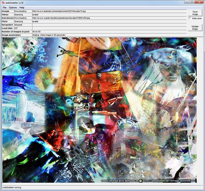 screen capture of webGobbler