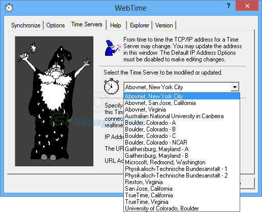 screenshot of WebTime 2000