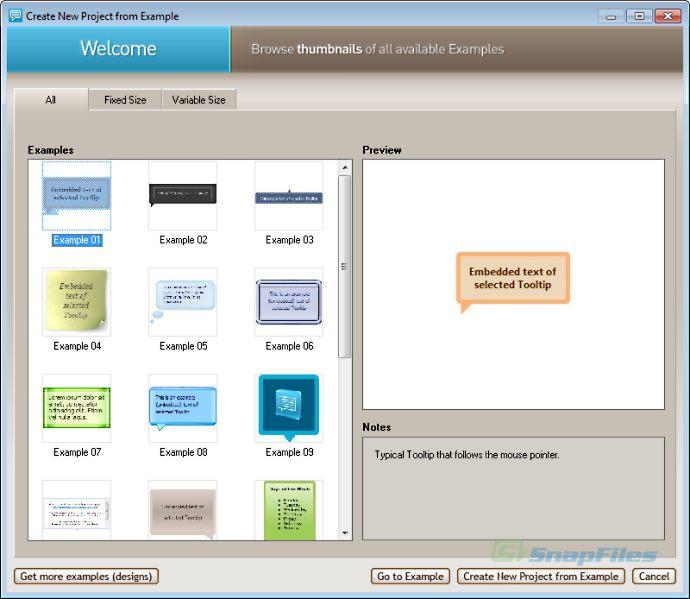 screenshot of Likno Web Tooltips Builder